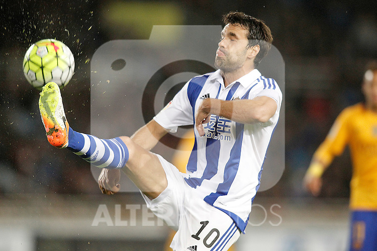 Real Sociedad's Xabi Prieto during La Liga match. April 9,2016. (ALTERPHOTOS/Acero)