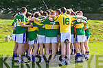 Tralee CBS get ready to play St Flannan's of  Clare in the Frewen Cup Final  held last Wednesday in Croagh, Co. Limerick.