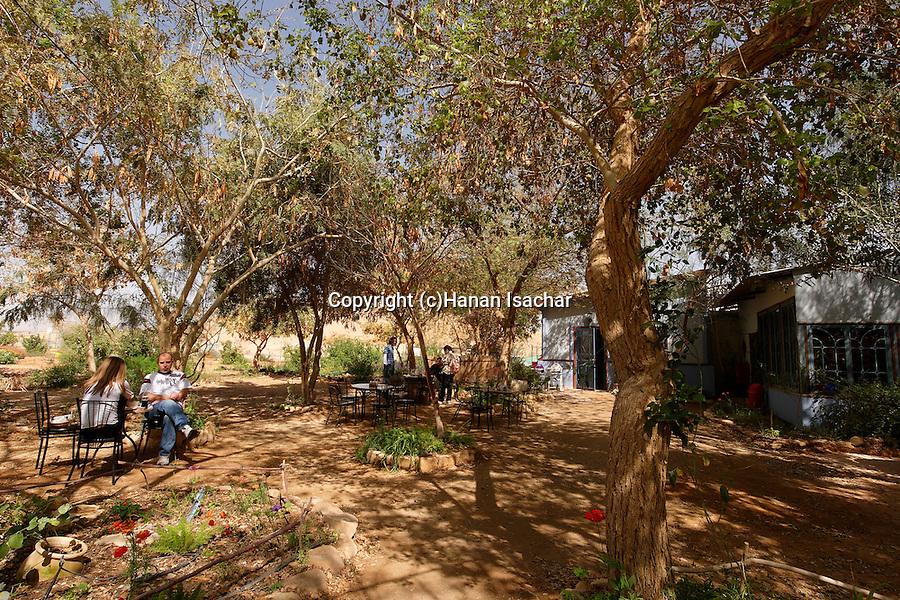 Israel, Arava. The restaurant at Neot Smadar