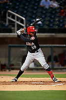 Chattanooga Lookouts Alfredo Rodriguez (35) at bat during a Southern League game against the Birmingham Barons on May 1, 2019 at Regions Field in Birmingham, Alabama.  Chattanooga defeated Birmingham 5-0.  (Mike Janes/Four Seam Images)