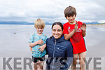 Hanne Winther, Noah and Roen Crawley from Killarney enjoying the day in Rossbeigh beach on Monday.