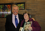 """Actor Robert Wagner is the author of """"You Must Remember This - Life and Style in Hollywood's Golden Age"""" and he speaks and signs the book on March 13, 2014 at the Greenwich Library, Greenwich, Connecticut poses with Susan Coflin who both went to Brookside School - Cranbrook in Bloomfield Hills, Michigan. (Photo by Sue Coflin/Max Photos)"""