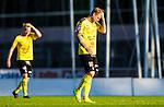 Uppsala 2015-05-21 Fotboll Superettan IK Sirius - Mj&auml;llby AIF :  <br /> Mj&auml;llbys David L&ouml;fquist deppar under matchen mellan IK Sirius och Mj&auml;llby AIF <br /> (Foto: Kenta J&ouml;nsson) Nyckelord:  Superettan Sirius IKS Mj&auml;llby AIF depp besviken besvikelse sorg ledsen deppig nedst&auml;md uppgiven sad disappointment disappointed dejected