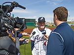 Reno Aces manager Greg Gross talks to the local press on Media Day, Tuesday April 3, 2018 in Reno, Nevada.