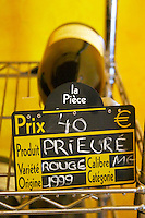 Prieure wine for sale. Prieure de St Jean de Bebian. Pezenas region. Languedoc. The wine shop and tasting room. France. Europe.