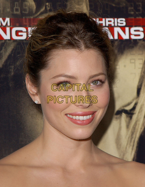 "JESSICA BIEL.New Line Cinema's World Premiere of ""Cellular"" held at The Cinerama Dome in Hollywood, California .September 9, 2004.headshot, portrait.www.capitalpictures.com.sales@capitalpictures.com.Copyright by Debbie VanStory."