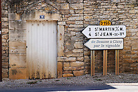 road sign mercurey burgundy france