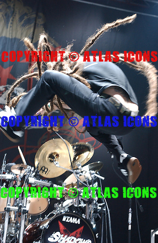 Shadows Fall; Ozzfest 2005:<br /> Photo Credit: Eddie Malluk/Atlas Icons.com