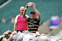 Matt Shepherd of Cornwall looks to put the ball into a scrum. Bill Beaumont County Championship Division 1 Final between Cheshire and Cornwall on June 2, 2019 at Twickenham Stadium in London, England. Photo by: Patrick Khachfe / Onside Images