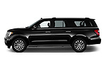 Car driver side profile view of a 2019 Ford Expedition XLT MAX 4x2 5 Door SUV