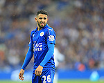 Leicester's Riyad Mahrez in action during the Barclays Premier League match at the King Power Stadium.  Photo credit should read: David Klein/Sportimage