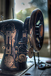 Sewing machine in Hotel S in the Black Forest