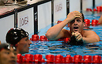 LONDON, ENGLAND - AUGUST 2:  Tyler Clary of the USA celebrates his gold medal and new Olympic Record time of 1:53.41 in the Men's 200M Backstroke during the Swimming Finals, Day 7 of the London 2012 Olympic Games on August 2, 2012 in London, England. (Photo by Donald Miralle)