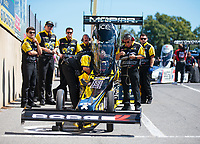 Sep 16, 2018; Mohnton, PA, USA; Crew members for NHRA top fuel driver Leah Pritchett during the Dodge Nationals at Maple Grove Raceway. Mandatory Credit: Mark J. Rebilas-USA TODAY Sports