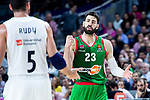 Real Madrid Rudy Fernandez and Kirolbet Baskonia Tornike Shengelia during Turkish Airlines Euroleague match between Real Madrid and Kirolbet Baskonia at Wizink Center in Madrid, Spain. October 19, 2018. (ALTERPHOTOS/Borja B.Hojas)