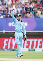 Jos Buttler (England) appeals for the run out of Steve  Smith during Australia vs England, ICC World Cup Semi-Final Cricket at Edgbaston Stadium on 11th July 2019