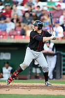 Quad Cities River Bandits first baseman A.J. Reed (18) at bat during a game against the Kane County Cougars on August 14, 2014 at Third Bank Ballpark in Geneva, Illinois.  Kane County defeated Quad Cities 4-1.  (Mike Janes/Four Seam Images)