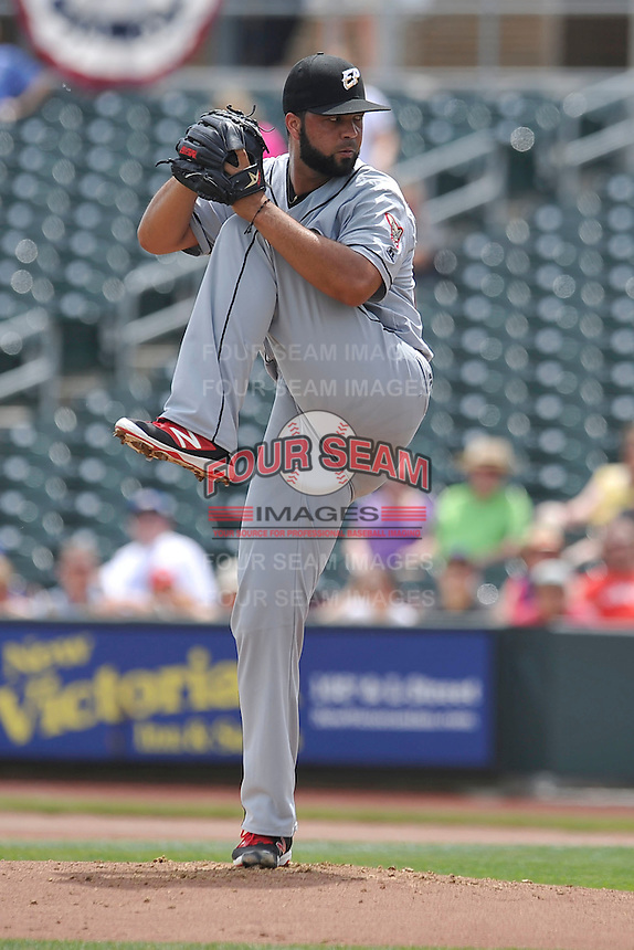 El Paso Chihuahuas Carlos Pimentel (27) during the game against the Omaha Storm Chasers at Werner Park on May 30, 2016 in Omaha, Nebraska.  El Paso won 12-0.  (Dennis Hubbard/Four Seam Images)