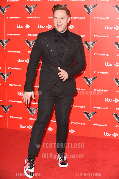 """LONDON, UK. January 03, 2019: Olly Murs at the launch photocall for the 2019 series of """"The Voice"""" London.<br /> Picture: Steve Vas/Featureflash"""