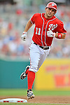 22 July 2012: Washington Nationals third baseman Ryan Zimmerman rounds the bases after hitting the second of two home runs for the day against the Atlanta Braves at Nationals Park in Washington, DC. The Nationals defeated the Braves 9-2 to split their 4-game weekend series. Mandatory Credit: Ed Wolfstein Photo