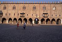 Mantova, la facciata di Palazzo Ducale in Piazza Sordello.<br /> Mantua, the facade of Palazzo Ducale in Piazza Sordello.