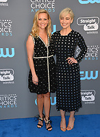 Reese Witherspoon &amp; Emilia Clarke at the 23rd Annual Critics' Choice Awards at Barker Hangar, Santa Monica, USA 11 Jan. 2018<br /> Picture: Paul Smith/Featureflash/SilverHub 0208 004 5359 sales@silverhubmedia.com