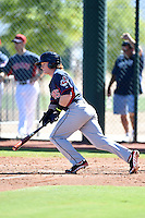 Cleveland Indians outfielder Clint Frazier (17) during an Instructional League game against the Seattle Mariners on October 1, 2014 at Goodyear Training Complex in Goodyear, Arizona.  (Mike Janes/Four Seam Images)