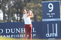 Robert Rock (ENG) on the 9th tee at Kingsbarns during Round 1 of the 2015 Alfred Dunhill Links Championship at the Old Course St. Andrews in Scotland on 1/10/15.<br /> Picture: Thos Caffrey | Golffile