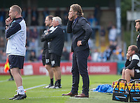A tense last few minutes for Wycombe Wanderers Manager Gareth Ainsworth as his team lead 2-1 during the Sky Bet League 2 match between Wycombe Wanderers and Hartlepool United at Adams Park, High Wycombe, England on 5 September 2015. Photo by Andy Rowland.
