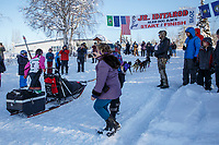 on the trail on the way to the finish of the 2018 Junior Iditarod in Willow, Alaska. Sunday February 25, 2018<br /> <br /> Photo by Jeff Schultz/SchultzPhoto.com  (C) 2018  ALL RIGHTS RESERVED