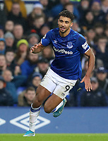 26th December 2019; Goodison Park, Liverpool, Merseyside, England; English Premier League Football, Everton versus Burnley; Dominic Calvert-Lewin of Everton  chases after the ball  - Strictly Editorial Use Only. No use with unauthorized audio, video, data, fixture lists, club/league logos or 'live' services. Online in-match use limited to 120 images, no video emulation. No use in betting, games or single club/league/player publications