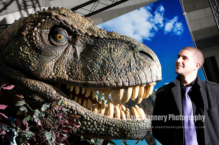 Pix: Shaun Flannery/sf-pictures.com..COPYRIGHT PICTURE>>SHAUN FLANNERY>01302-570814>>07778315553>>..23rd October 2008............Dinasaur exhibition, Doncaster Dome. .Jamie Vodden.
