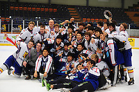 IJSHOCKEY: HEERENVEEN: Thialf, IIHF Ice Hockey U18 World Championship, 060412, World Champion Korea, Silver medals for Team Romania ©foto Martin de Jong