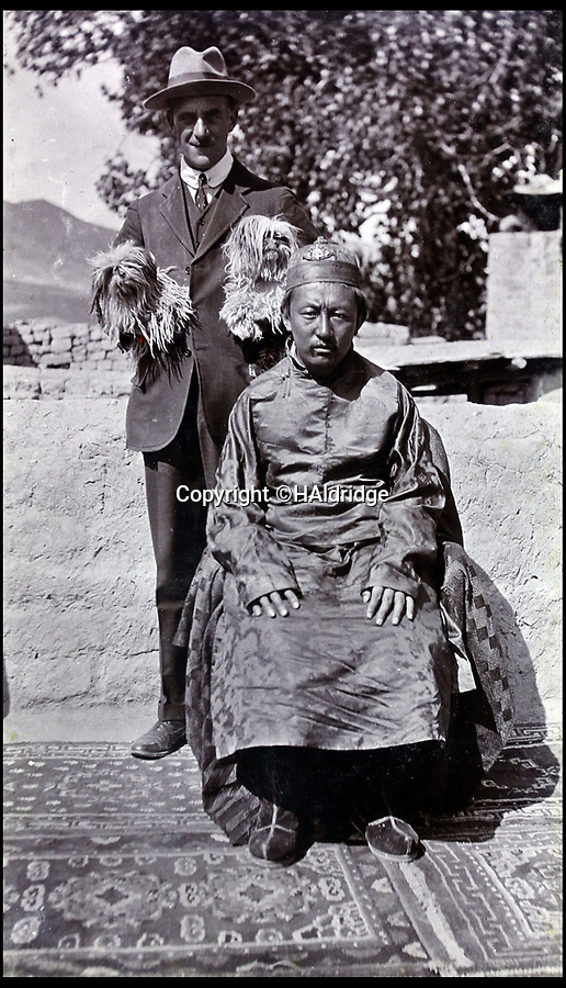 BNPS.co.uk (01202 558833)Pic: HAldridge/BNPS<br /> <br /> British political officer Basil Gould with the Tibetan Tashi Lama.<br /> <br /> Game tales from the hills...remarkable album shows British attempts to win over newly invaded Tibet by playing sport's straight from the playing fields of England.<br /> <br /> A collection of photos have come to light which show the people of the remote Himalayan nation of Tibet embracing one of the traditional British pastimes - a sports day.
