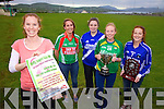 Skellig Rangers to host the 6th Annual ladies Football Tournament in aid of the Tralee & Cork Oncology Units pictured here l-r; Aideen Martin(Chairperson Skellig Rangers Ladies), Jacintha Kirby(St Michaels/Foilmore), Anna Cournane(St Marys), Karen Kennedy(Skellig Rangers - 2013 A Winners) & Niamh Casey(Renard 2013 B Winners).