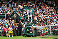 London, England, 2 July, 2016, Tennis, Wimbledon, Kiki Bertens (NED) (L) vs Simona Halep (ROU)<br /> Photo: Henk Koster/tennisimages.com