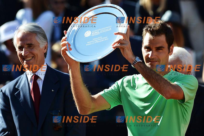 Roger Federer Switzerland finalist .Roma 19/05/2013 Foro Italico .Tennis Internazionali d'Italia 2013 .Finale Final .Foto Andrea Staccioli Insidefoto