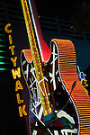 Giant guitar at Universal CityWalk in Universal City, Los Angeles, CA