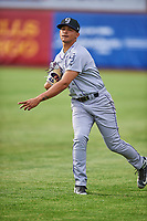 Grand Junction Rockies starting pitcher Miguel Ausua (11) throws before the game against the Ogden Raptors at Lindquist Field on June 17, 2019 in Ogden, Utah. The Rockies defeated the Raptors 9-0. (Stephen Smith/Four Seam Images)