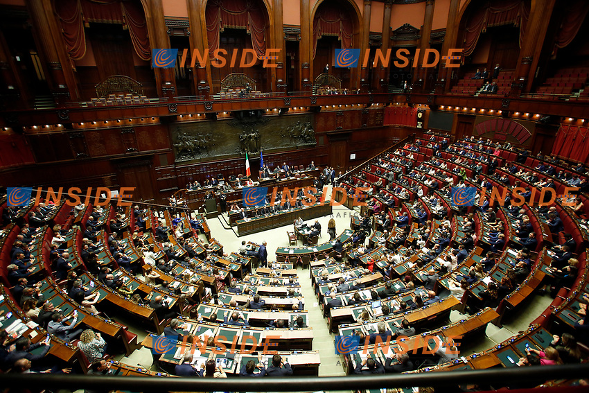 General view<br /> Rome September 9th 2019. Lower Chamber. Programmatic speech of the new appointed Italian Premier at the Chamber of Deputies to explain the program of the yellow-red executive. After his speech the Chamber is called to the trust vote at the new Government. <br /> Foto  Samantha Zucchi Insidefoto