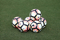 Cary, North Carolina  - Saturday June 17, 2017: NWSL balls prior to a regular season National Women's Soccer League (NWSL) match between the North Carolina Courage and the Boston Breakers at Sahlen's Stadium at WakeMed Soccer Park. The Courage won the game 3-1.