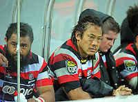 Counties player-coach Tana Umaga watches the final minute of the 28-19 loss. ITM Cup rugby match - Taranaki v Counties-Manukau Steelers at Yarrow Stadium, New Plymouth, New Zealand on Sunday 12 September 2010. Photo: Dave Lintott/lintottphoto.co.nz.