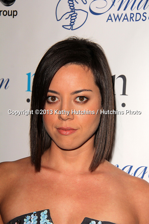 LOS ANGELES - AUG 16:  Aubrey Plaza at the 28th Annual Imagen Awards at the Beverly Hilton Hotel on August 16, 2013 in Beverly Hills, CA