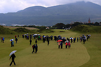 Action on the 9th fairway during the Matchplay Final of the Women's Amateur Championship at Royal County Down Golf Club in Newcastle Co. Down on Saturday 15th June 2019.<br /> Picture:  Thos Caffrey / www.golffile.ie