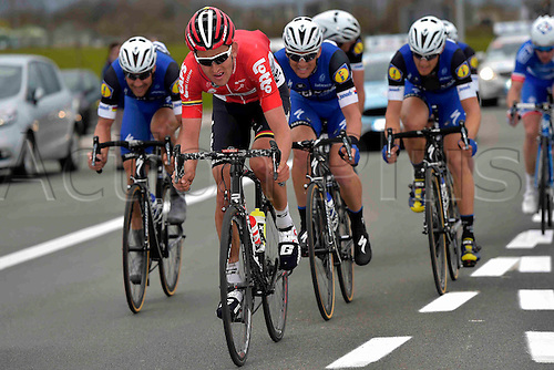 27.03.2016. Deinze, Belgium.  BENOOT Tiesj (BEL) Rider of LOTTO SOUDAL in action during the Flanders Classics UCI World Tour 78nd Gent-Wevelgem cycling race with start in Deinze and finish in Wevelgem
