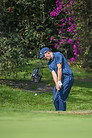 Matt Fitzpatrick (ENG) chips on to 1 during round 3 of the World Golf Championships, Mexico, Club De Golf Chapultepec, Mexico City, Mexico. 3/3/2018.<br /> Picture: Golffile | Ken Murray<br /> <br /> <br /> All photo usage must carry mandatory copyright credit (&copy; Golffile | Ken Murray)