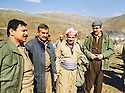 Iran 1990  <br /> In Kasmarach, from left to right, Feridoun,  Mullazem Omar, Moemen Barzan and Jowhar Namek<br /> Iran 1990<br /> In Kasmarach, de gauche a droite, Feridoun, Mullazem Omar, Moemen Barzani et Jowhar Namek