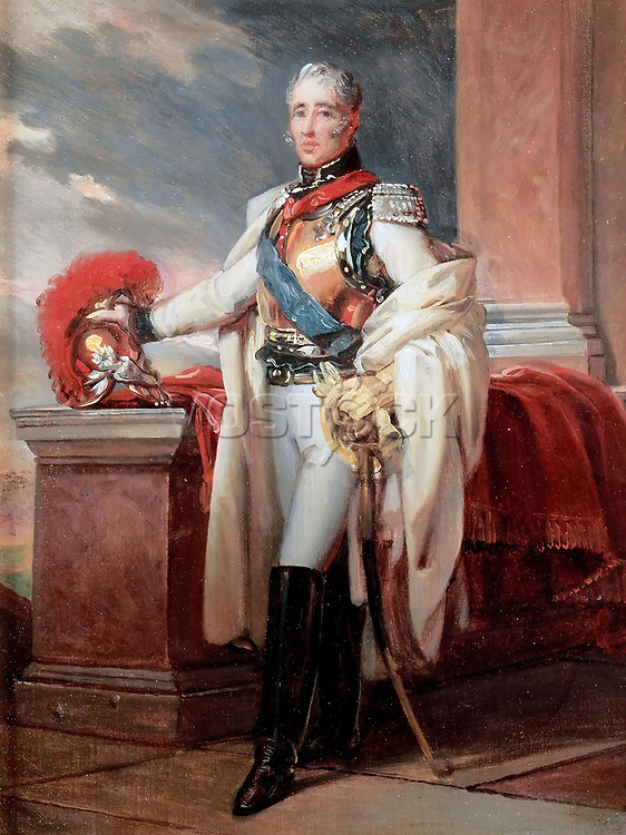 Charles-Philippe de France, Count of Artois (1757-1836) by Gerard, Francois Pascal Simon (1770-1837) / Musee de l'Histoire de France, Chateau de Versailles / c. 1815 / France / Oil on canvas / Portrait / 238x158 / Neoclassicism