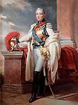 Charles-Philippe de France, Count of Artois (1757-1836) by Gerard, Francois Pascal Simon (1770-1837) / Musee de l'Histoire de France, Chateau de Versailles / c. 1815 / France / Oil on canvas / Portrait / 238x158 / Neoclassicism