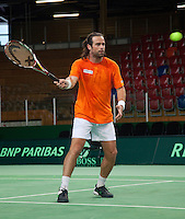04-05-10, Zoetermeer, SilverDome, Tennis, Training Davis Cup, Reamon Sluiter